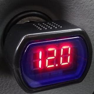 KFZ Zigarettenanzünder Spannungsmesser Voltmeter Auto Batterie LED Anzeige LKW