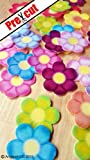 36 X PASTEL FLOWER M SWEET EDIBLE WAFER / RICE PAPER CUP CAKE TOPPERS PARTY WEDDING BIRTHDAY DECORATION (Pastel Mix)