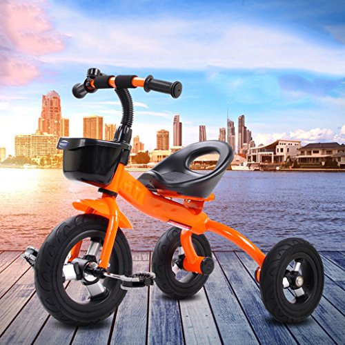 e8a76865bbf QWM-Baby child bicycles Tricycle Bicycle Stroller Baby Children 2-5 Years  Old Bike Children's gift ( Color : Orange , Size : Titanium Empty Tires )