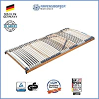 RAVENSBERGER MEDIMED® 44-Leisten 7-Zonen-BUCHE-Lattenrahmen | Starr | MADE IN GERMANY - 10 JAHRE GARANTIE | TÜV/GS + LGA/QS - zertifiziert - 90x200 cm
