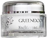 Greendoor Nachtcreme mit Bio Hibiscusblüten Extrakt 50ml, Hautpflege bei trockener Haut, Anti-Falten Formel aus der Naturkosmetik Manufaktur, Feuchtigkeitspflege ideal für trockene Haut, Geschenk Geschenke