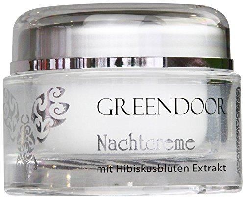 Greendoor Nachtcreme mit Bio Hibiscusblüten Extrakt 50ml, Hautpflege bei trockener Haut,...