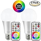 Jayool 10W E27 120 Couleurs LED RGBW Ampoule Changement de Couleur Télécommande...