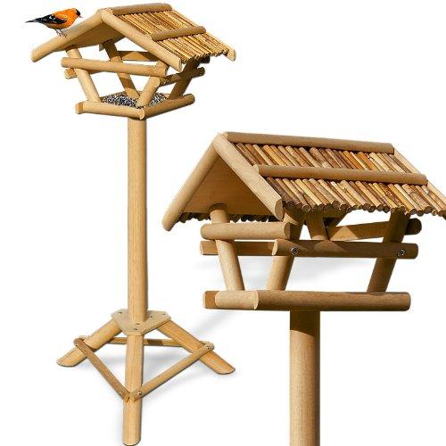 Vogelhaus XXL Bambus Vogelfutterspender Vogelfutterhaus Vogelhäuschen Vogelvilla Futterhaus Vogel