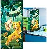 alles-meine.de GmbH Fototapete -  Disney - König der Löwen  - 211 cm x 91 cm - incl. Kleister - Vlies Wandtapete / Türtapete - Tapete - Kleber / Tapetenkleber - für Kinderzimme..