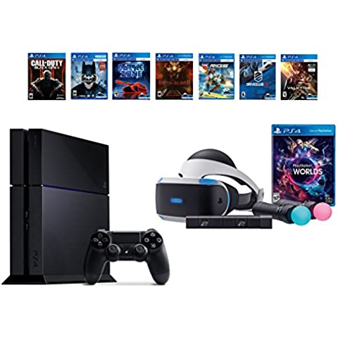 PlayStation VR Launch Bundle 8 Items:VR Launch Bundle,PS4 Call of Duty Black Ops III,6 VR Game Disc Until Dawn,Rush of Blood,EVE: Valkyrie, Battlezone,Batman:Arkham VR, Dr(Versión EE.UU.,