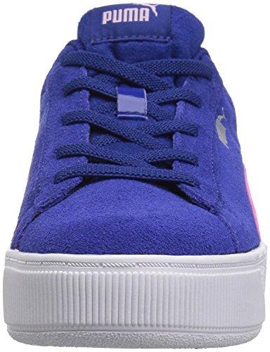 PUMA Unisex-Kids Vikky Platform AC PS Sneaker  Sodalite Blue-Winsome Orchid Silver  1 M US Little Kid