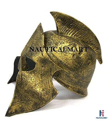 Nautisches Mart Roman Armour Kostüm Deluxe Roman Gladiator Helm hat Spartan Soldier Warrior Fancy Kleid