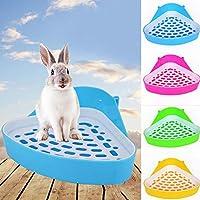 Xiton Pequeño Animal Potty Creativo Pequeño Animal Doméstico WC Bedding Box para Conejo Conejillo de Indias Chinchilla Color Al Azar 1 Unid