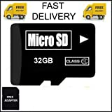 #10: 32 GB Micro SD Card TF Flash Memory MicroSD Micro SDHC Class 10 Free Adapter