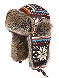 Insun Cappello da Aviatore Berretto Antivento Invernale Cappelli Russo per Adulti e Bambini Multicolore 3 M (Circonferenza del Cappello:54cm)