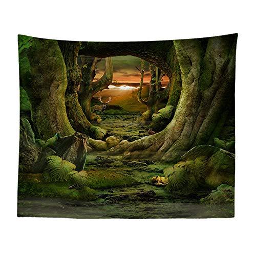 ie Fantasie Cartoon Druck Tapisserie Wohnzimmer Wandbild Dekoration Stoff Studio Schießen Hintergrund Wand 894 150-230 ()