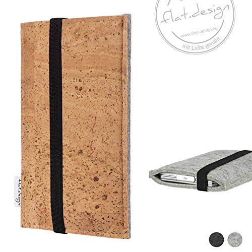 Handy Tasche SINTRA - Filz Kork Gummiband Tasche Case (Apple-laptop Green)