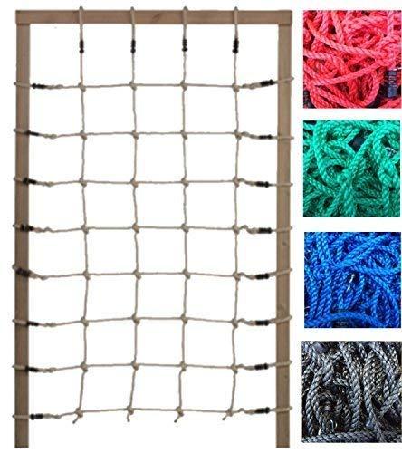 Loggyland Kletternetz 2m hoch, Verschiedene Breiten und Netzfarben zur Auswahl (Breite 125cm)