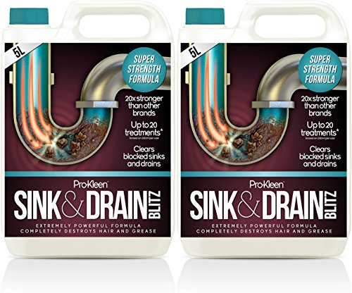 2-x-5-litres-pro-kleen-plughole-sink-drain-unblocker-super-strength-formula-up-to-20-treatments