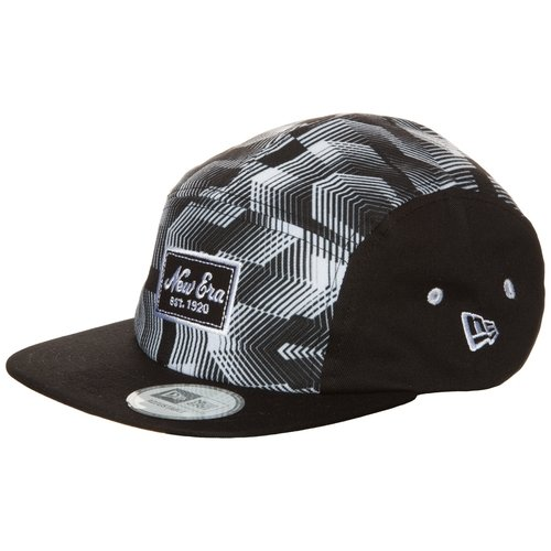 Five panel black and white