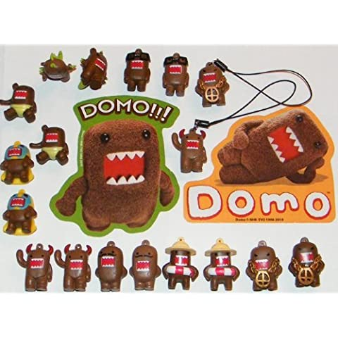Domo Figure Party Favors Decorations Set of 20 Fun Figurines, Danglers and Stickers by Domo
