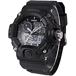 Kobwa(TM) OHSEN Mens LCD Dual Core Outdoor Wrist Watch with Kobwa's Keyring
