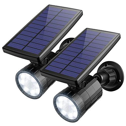Arbeitsscheinwerfer 2 Stücke Led Solar Scheinwerfer Motion Sensor Lichter Outdoor Nachtlicht Wasserdichte Solar Sicherheit Lichter Straße (Lichter Motion Sensor Sicherheit)