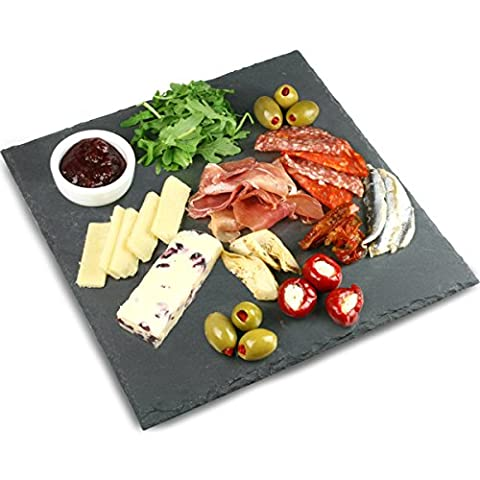 Utopia Mineral Collection Square Slate Platter 28cm | Slate Presentation Platter