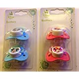 Pack of 2 Disney Minnie or Mickey Mouse Baby Soothers / Dummies BPA Free