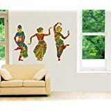 Rawpockets 'Indian Ethnic Dance' Wall Sticker (PVC Vinyl, 0.99 cm x 145 cm x 100 cm)