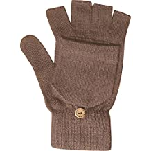 Ladies Winter Thermal Knit Magic 2 in 1 Combo Fingerless Gloves & Mittens