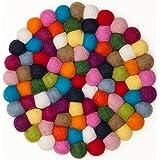 Myfelt Fieltro bola Salvamanteles–Lotte––20cm, multicolor