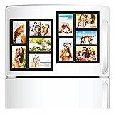Top Home Solutions–Pack of 2Magnet Bilderrahmen Collage für Kühlschrank, Schule Locker, Datei Schrank, Werkzeugkoffer, oder Dry Erase Boards. Hält 5–10,2x 15,2cm Fotos.