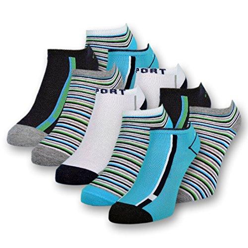 10 Paar Kinder Sneaker Socken Jungen Kindersocken Baumwolle - 56559 (31-34)