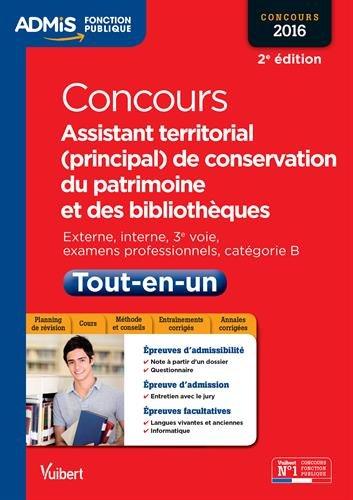 Concours Assistant territorial (principal) de conservation du patrimoine et des bibliothèques - Catégorie B - Concours 2016 par Albane Lejeune