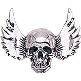 3D Winged Skull Pin del Risvolto Semplice del Cranio Halloween Pins Sera del Partito del Costume Spilla Pin 1Pc