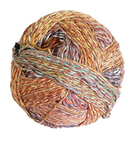 Schoppel-Wolle Knitting Yarn, 100% Organic Cotton Multicoloured, 100g