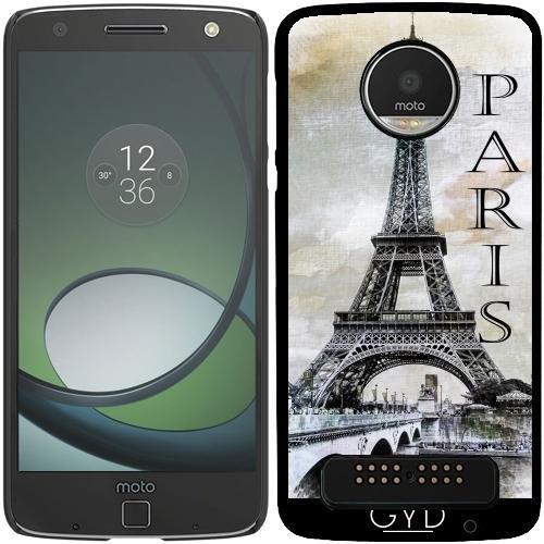 Eiffel Schale Turm (Hülle für Lenovo (Motorola) Moto Z Play - Paris Eiffelturm by J McCool)