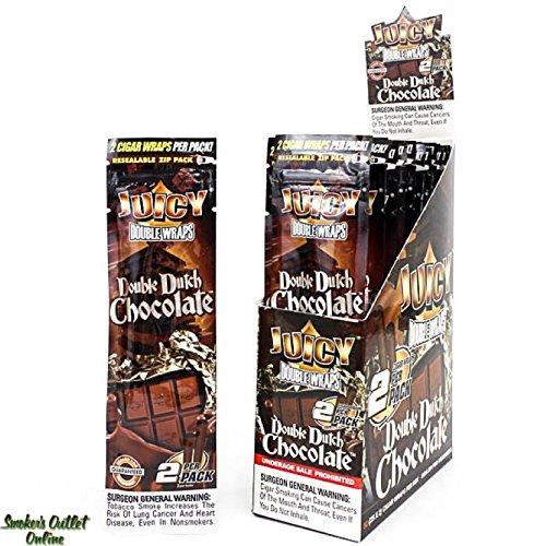 Juicy doppio Wraps–2Pacchetti X 2sigari Wraps 'Double Dutch Cioccolato' New Flavor venduto da Trendz