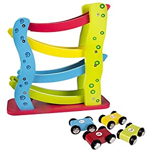 Roller de madera ColorBaby + 4 coches