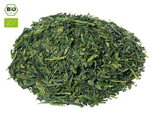 Japanischer Grüner Tee Sencha Mizuki, BIO-zertifiziert, Super-Premium, beschattet. 100 g, lose, nicht aromatisiert. Aus kleinem Tee-Garten Präfektur Fukuoka, Insel Kyushu im Süden Japans: Geheimnisvoll, beruhigend. Mit kräftigem, klarem Aroma. Direkt a
