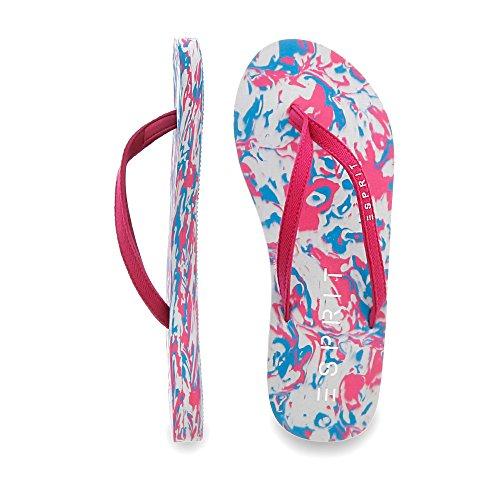 ESPRIT 046EK1W053 Damen Pantolette bis 30mm Absatz Rot (Pink)