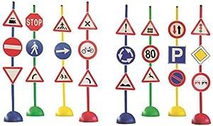 Italveneta Didattica 036-Juego 24señales stradali con Base de Apoyo, de plástico
