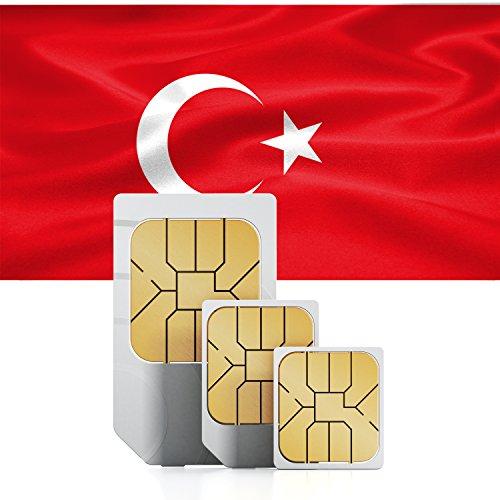 travSIM Türkei Prepaid Daten SIM Karte + 750MB für 30 Tage - Standard,Micro & Nano SIM