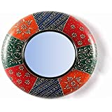 "D'Dass™ Colorful 12"" Decorative Wall Mirror / Wall Decorative/Mirror For Wall / Hanging Mirror / Painted Mirror / Small Mirror By D'Dass/Wall Mirror For Living Room/Bathroom Mirror/Mirror For Gift/Christmas & New Year Festival"