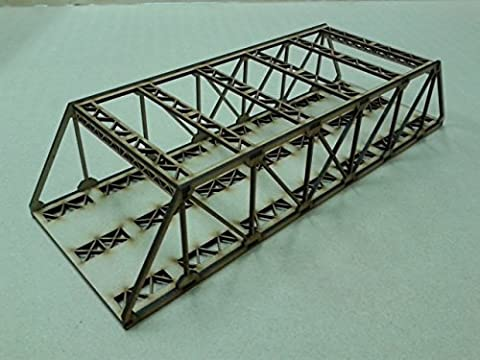Model Railway Double Track Girder Bridge Wooden Kit OO Gauge Laser Cut 3mm MDF 40cms Long
