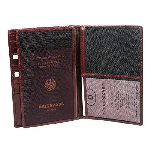 Maitre Herren Rustico Agiwan LV14 Geldbörsen, 12x17x1 cm Braun (dark brown 702)