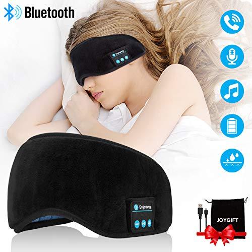 Écouteurs Bluetooth,Masque De Sommeil Bluetooth Casque Masque pour les yeux Oreillettes Sans Fil Casque Bluetooth Ecouteur avec Microphone Stéréo Auriculaires Sleeping Headphones Wireless Earbuds Noir