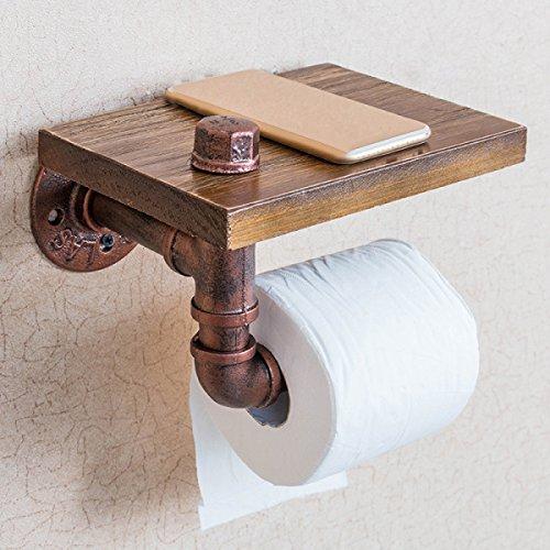 XGMSD Vintage Eisenrohr Regale Handtuchhalter Bad Wandregal Toilettenpapier Kassettenlagerregal Bad Rack Kosmetik - Organizer Kosmetik-wand