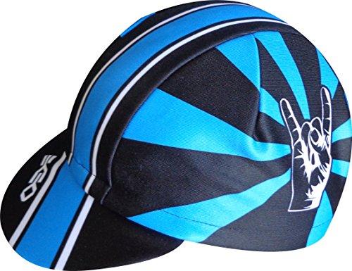 EKEKO SPORT Gorra Ekeko Lagos. Gorra de Ciclismo Corte Racing. Ciclismo, Running, Triatlon y Trailrunning. 100% Poliester Racecut. (Azul/Negra)