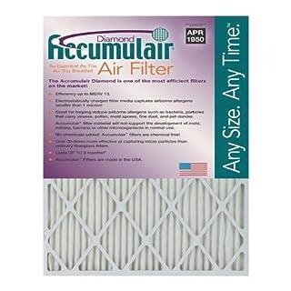 12.75x21x1 (Actual Size) Accumulair Diamond 1-Inch Filter (MERV 13) (4 Pack) by Accumulair