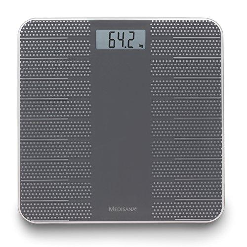 Medisana PS 430 digitale Personenwaage 40458, Anti-Rutsch Oberfläche, zur Ermittlung des Körpergewichts bis 180 kg (Digitale Trockene Bäder)