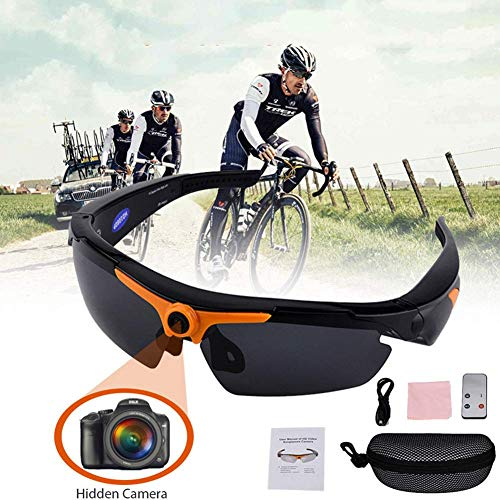 NAMENLOS HD 1080P Sonnenbrille Kamera Brille Kamera Weitwinkel Objektiv Outdoor Sport Brille Kamera Fahrrad Motorrad Aufnahme Mini DV Kamera