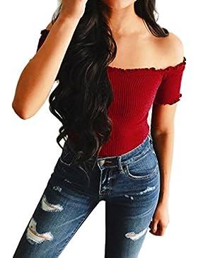 FAMILIZO Camisetas Mujer Manga Corta Baratas Camisetas Mujer Verano Blusa Mujer Sport Tops Mujer Verano Camisetas...